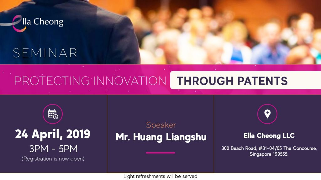 Seminar Protecting Innovation through Patents (April 2019)