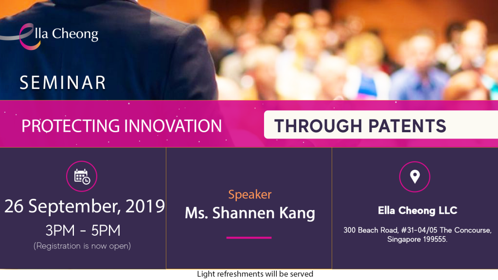 Seminar Protecting Innovation through Patents (September 2019)