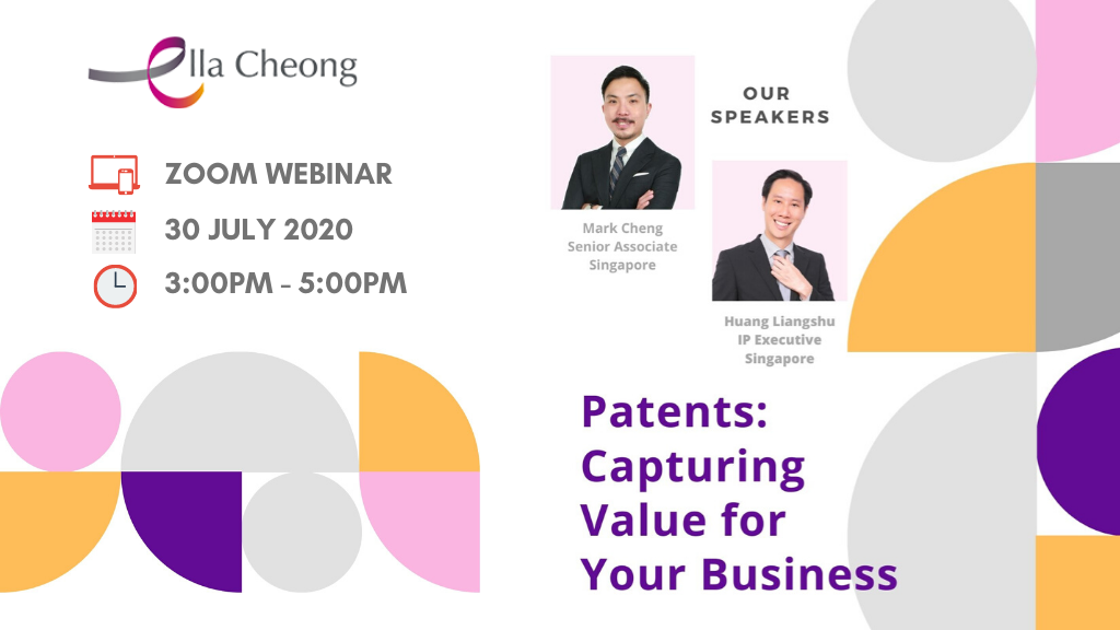 Zoom Webinar - Patents: Capturing Value for Your Business